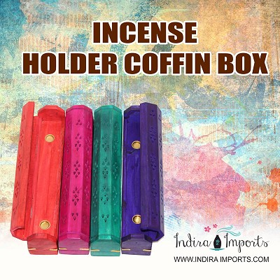 Incense Holder Cofin Box